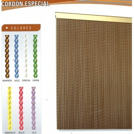 Cortina Cordon Especial color opaco para Puertas - Cortinas Antimoscas