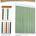 Cortina Cordon Rizado Grueso color opaco para Puertas - Cortinas Antimoscas